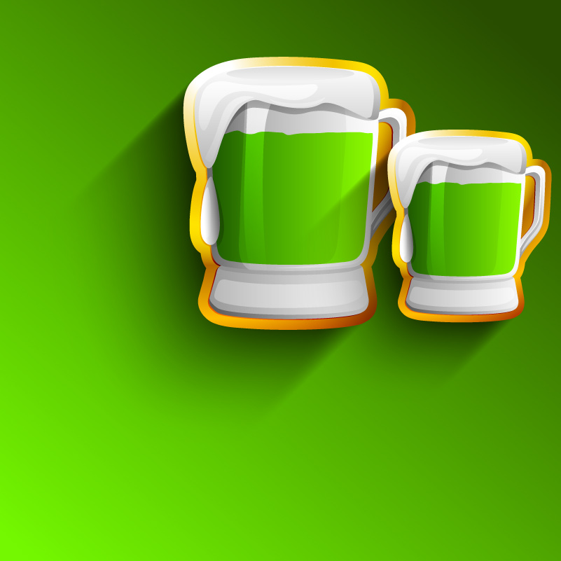 St. Patrick's Day Beer Mug Vector