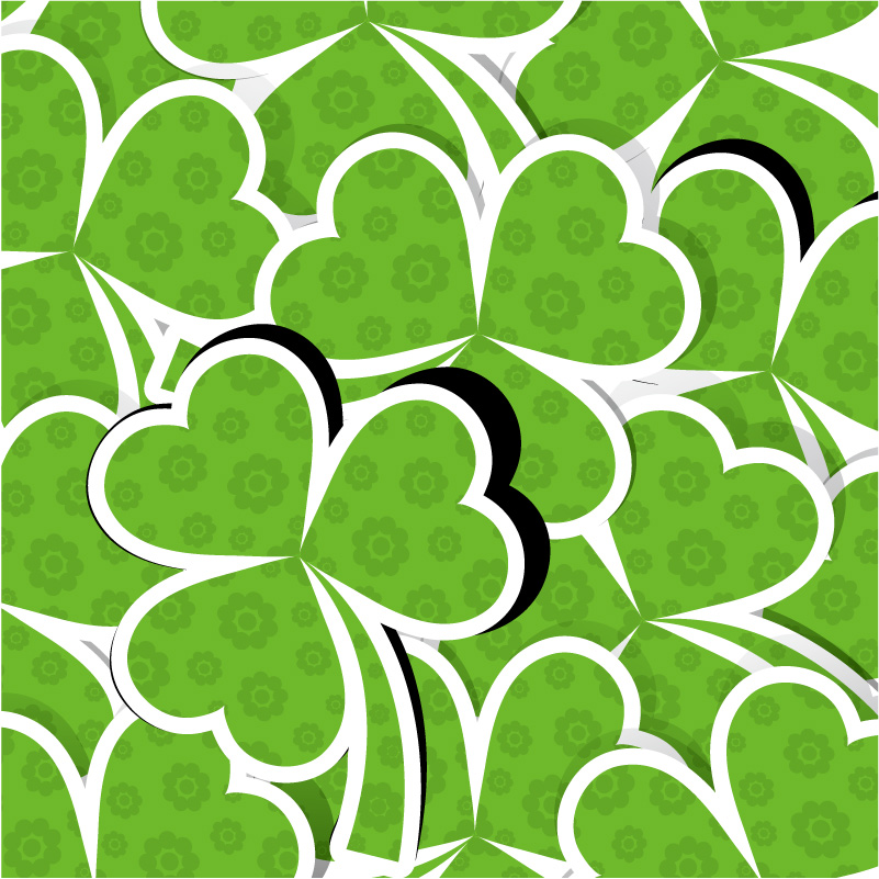 St. Patrick's Day Clover Background Vector