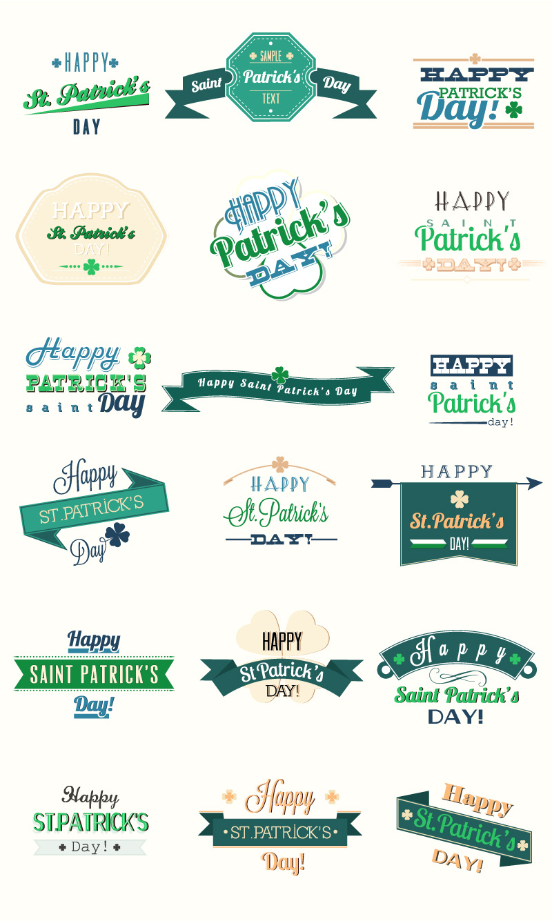 St. Patrick's Day Element Vector