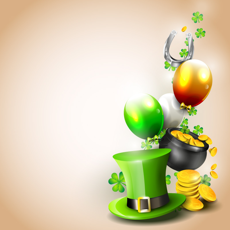 St. Patrick's Day Orange Background Vector