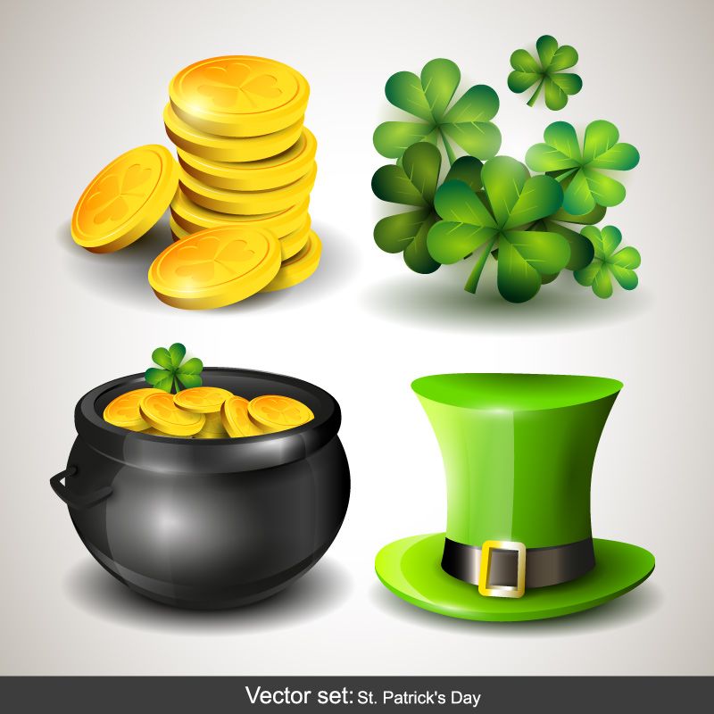St. Patrick's Day Shamrocks Vector