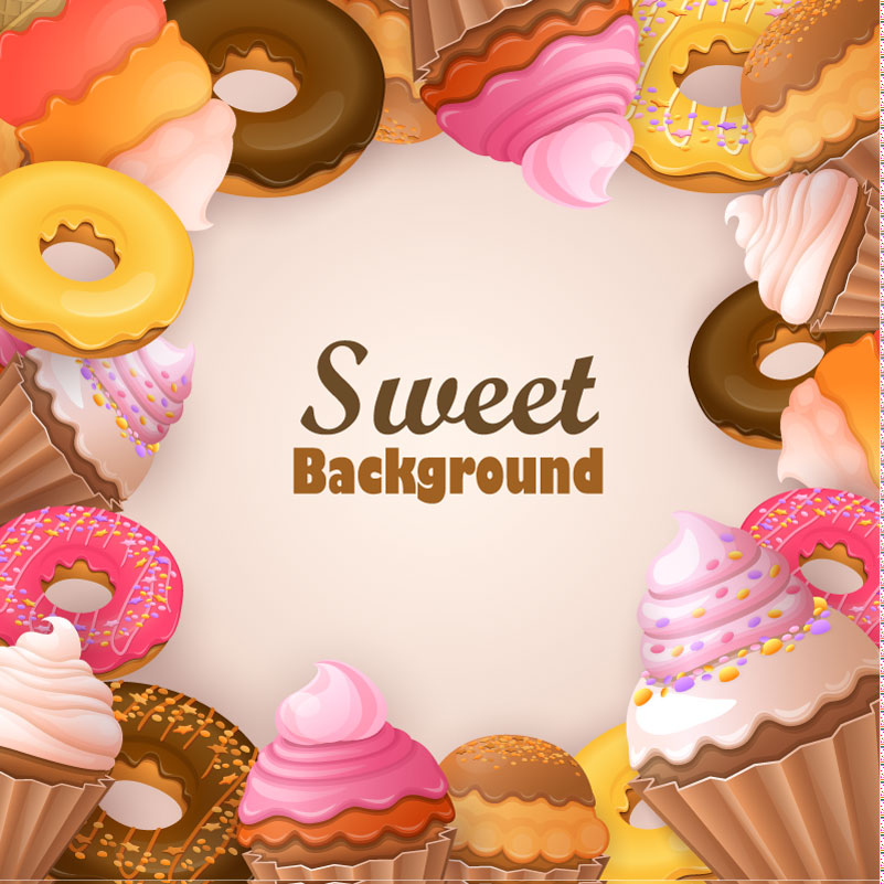 Sweet Background Ice Cream Vector
