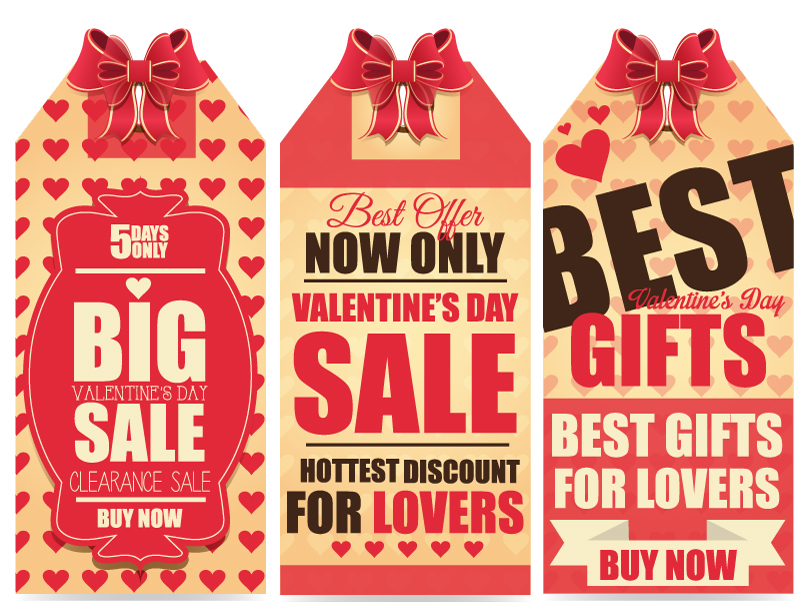 Valentine's Day Promotion Banner Vector