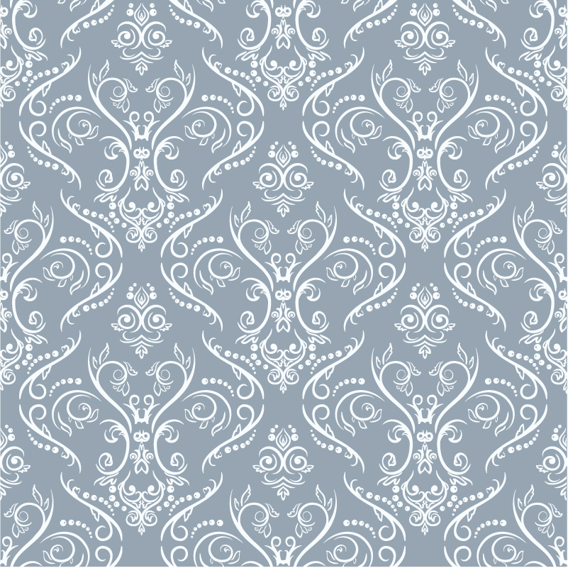 White Pattern Decorative Background Vector
