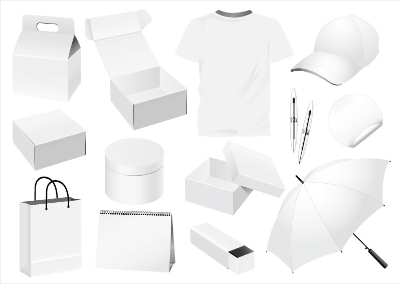 White Product Design Vector