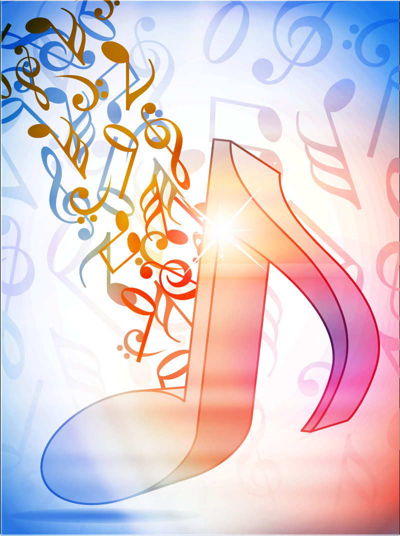 Abstract Musical Notes Design Vector