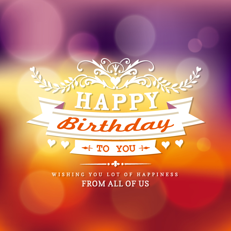 Beautiful Birthday Card Vector