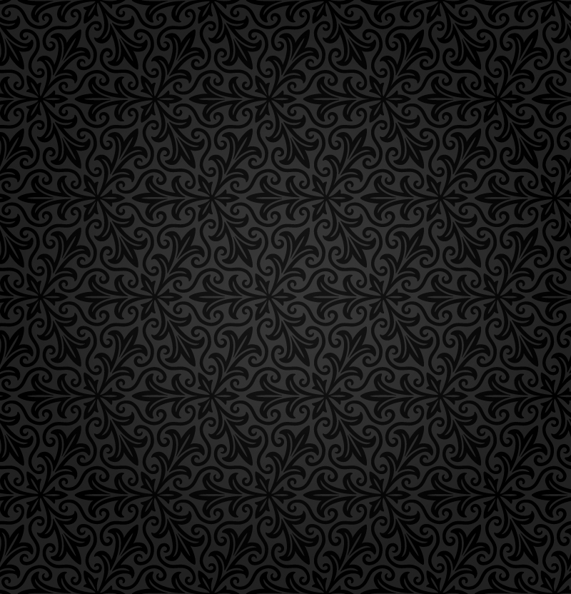 Black Retro Floral Background Vector