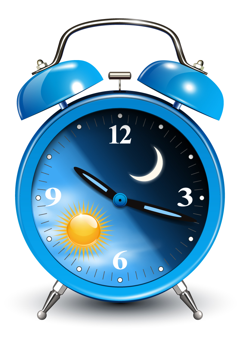 Blue Alarm Clock Design Vector
