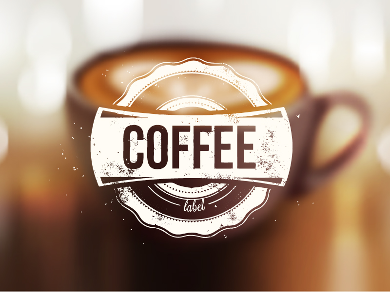 Blur Coffee Background Vector