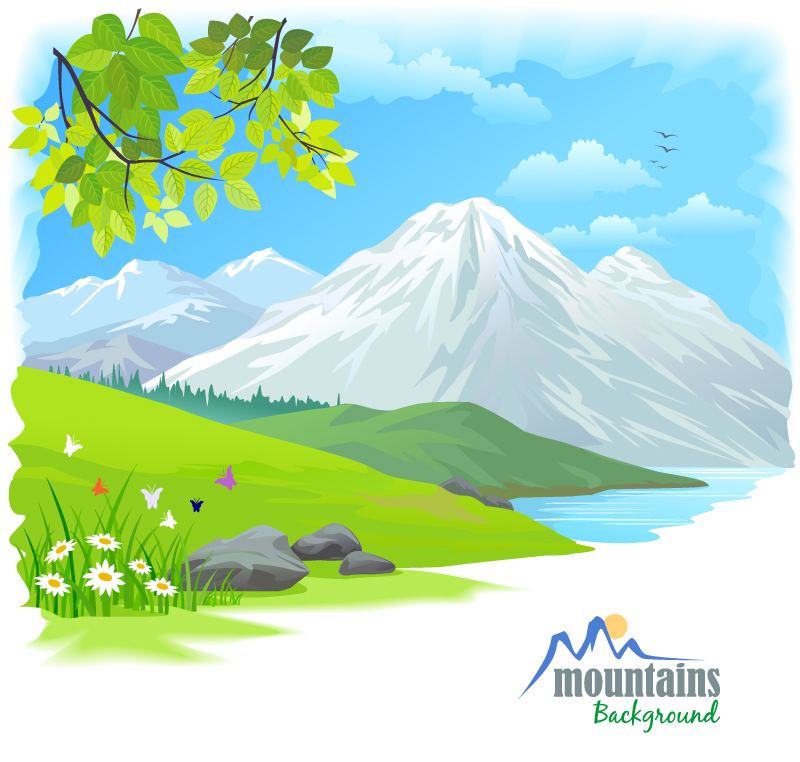 Cartoon Snow Nature Vector