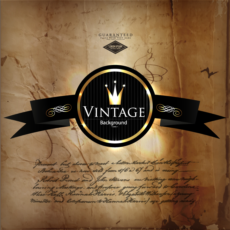 Classic Crown Vintage Background Vector