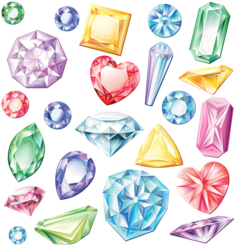 Colored Diamond Design Vector