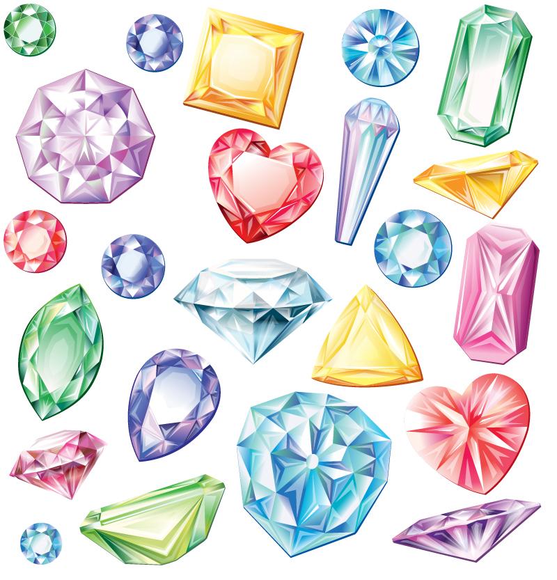 Colored Diamond Design Vector