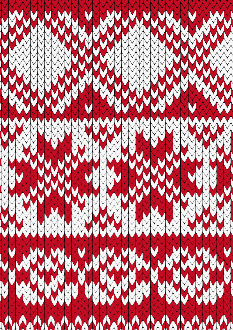 Crimson Knitting Pattern Background Vector