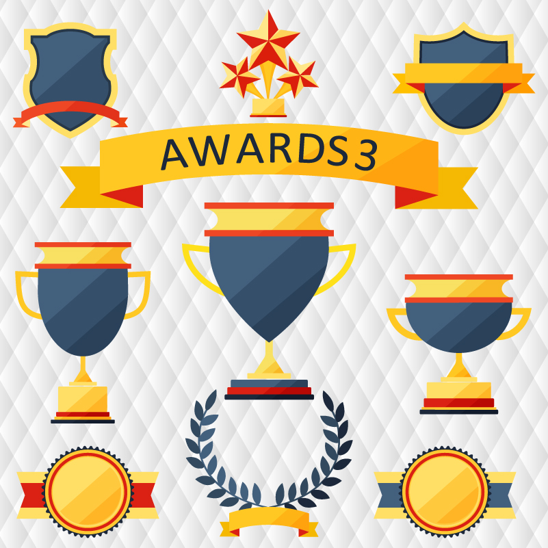 Exquisite Medal Trophy Design Vector