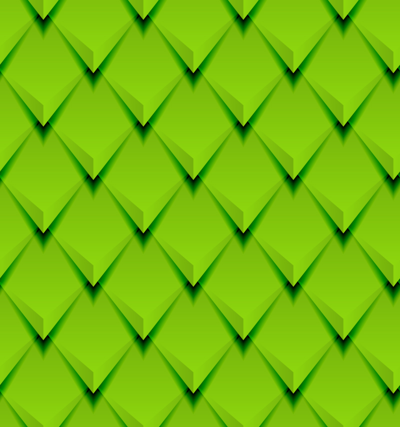 Green 3D Diamond Background Vector