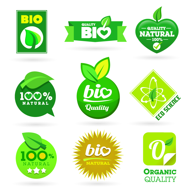 Green Eco Label Vector