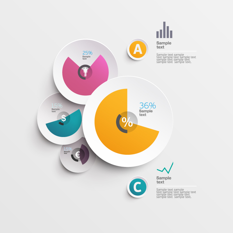 Infographics Pie Business Vector