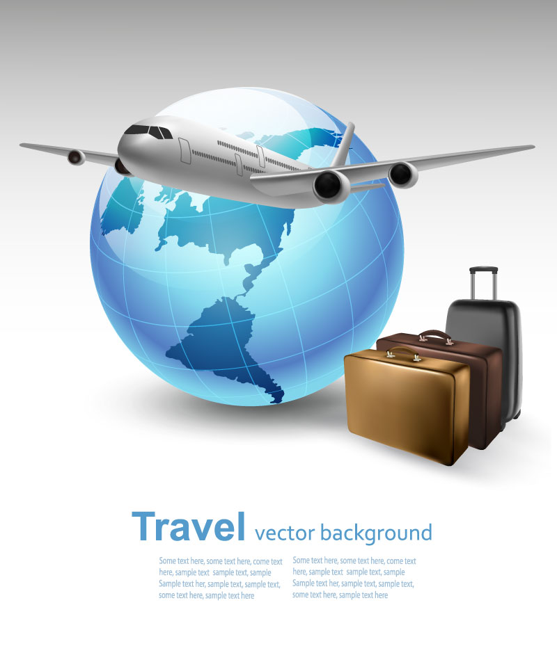 Travel All Round the World Background Vector