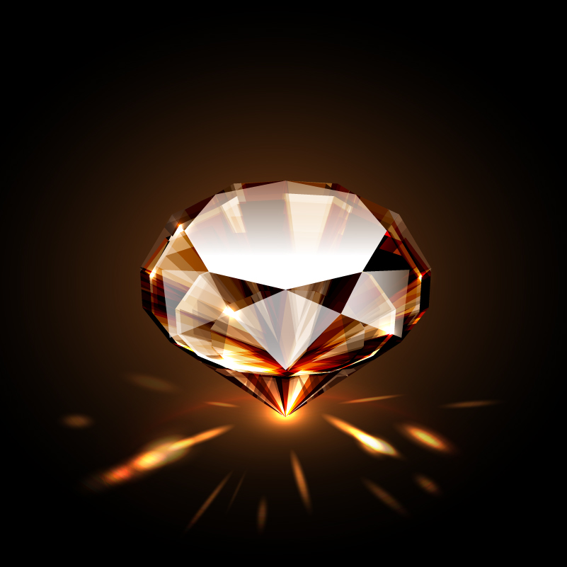 Beautiful Bright Diamond Vector