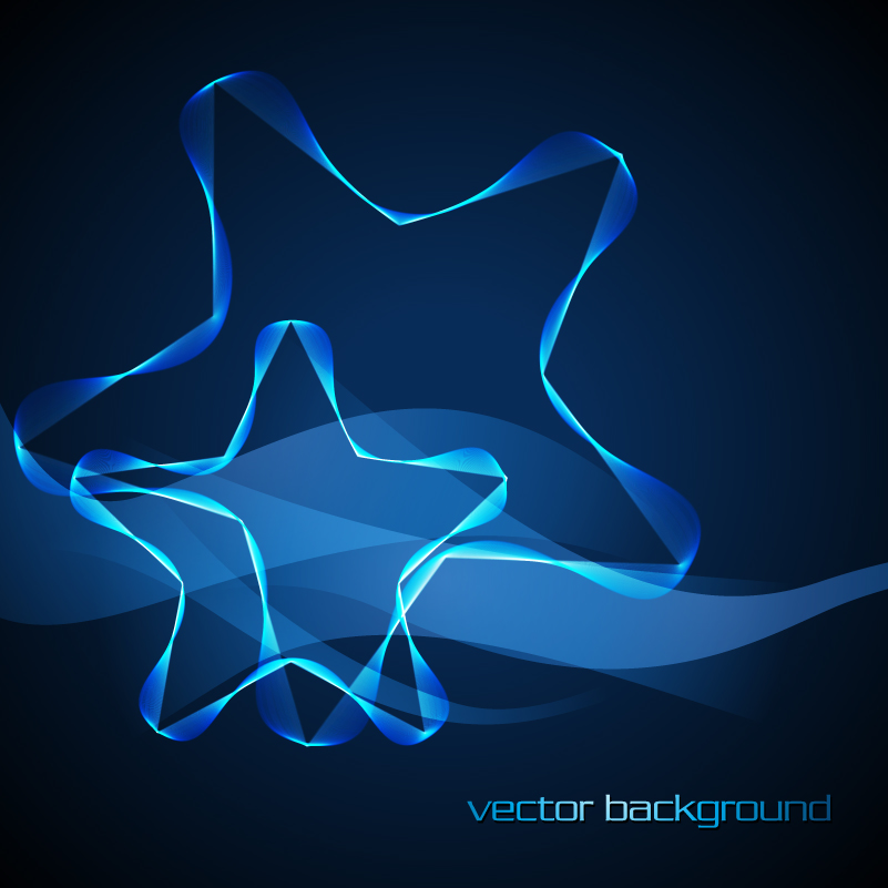 Blue Star Lines Background Vector
