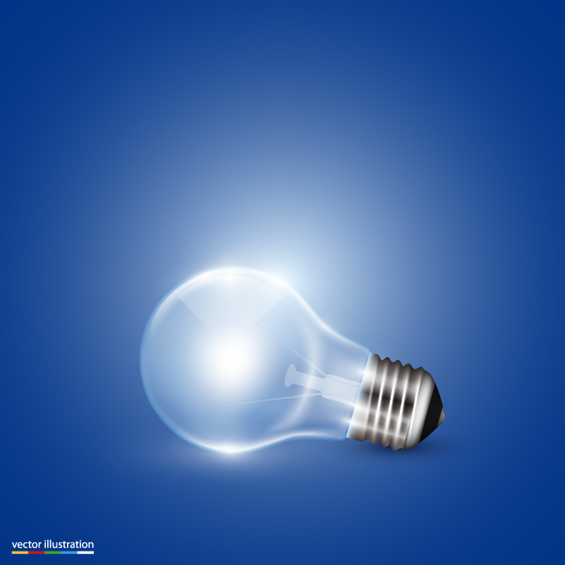 Bright Light Bulb Background Vector