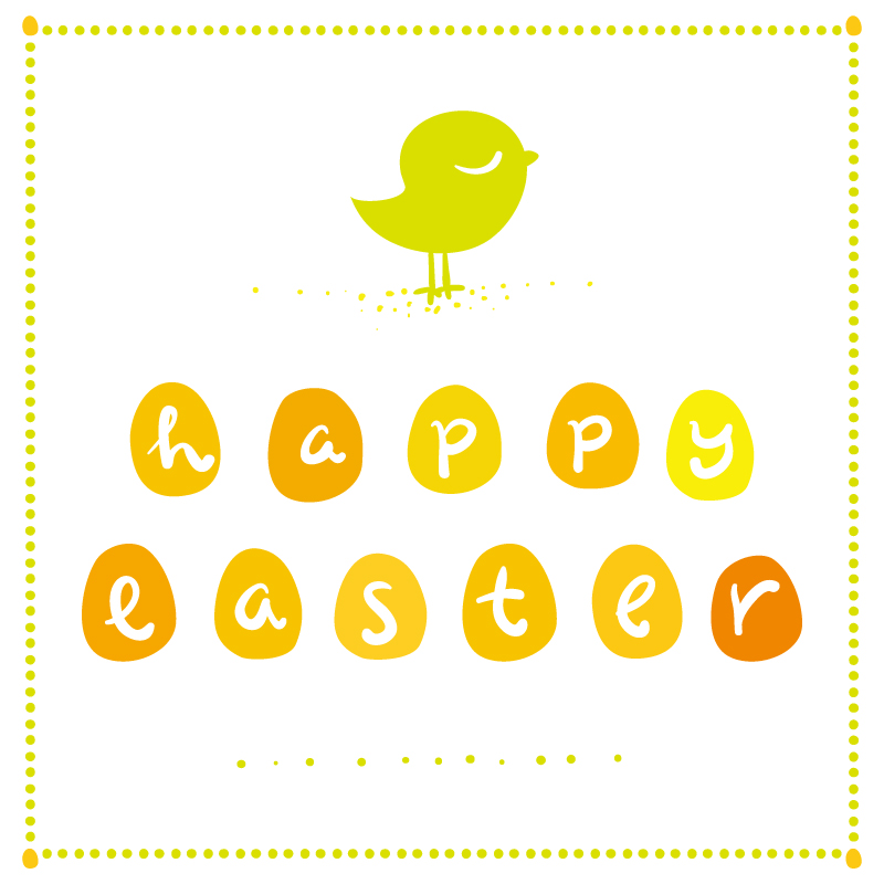 Cartoon Easter Chicks Background Vector