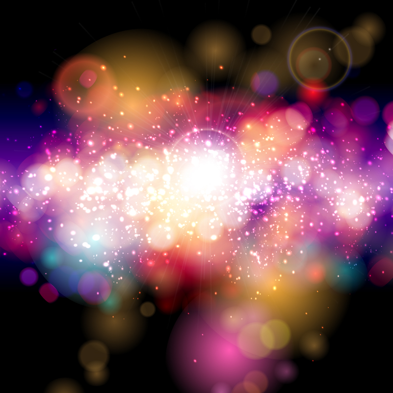 Dazzling Light Effects Fantasy Background Vector