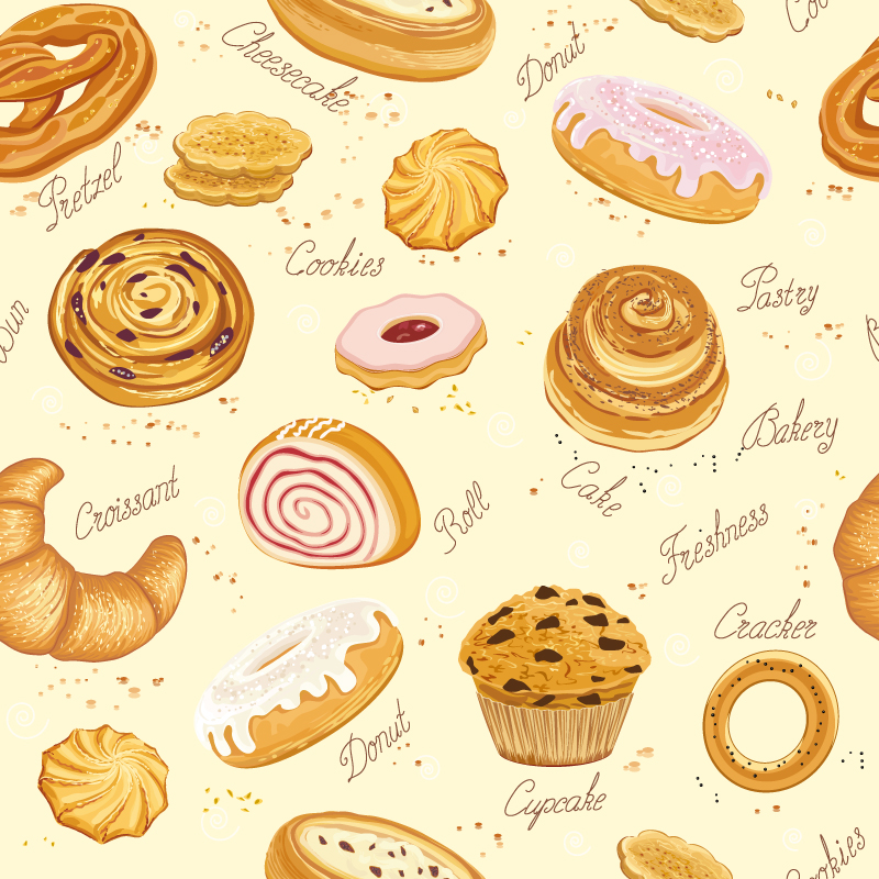 Delicious Baked Goods Vector