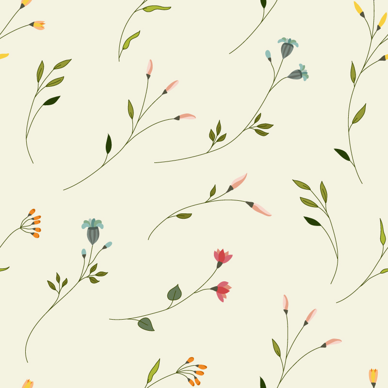 Elegant Flowers Background Vector