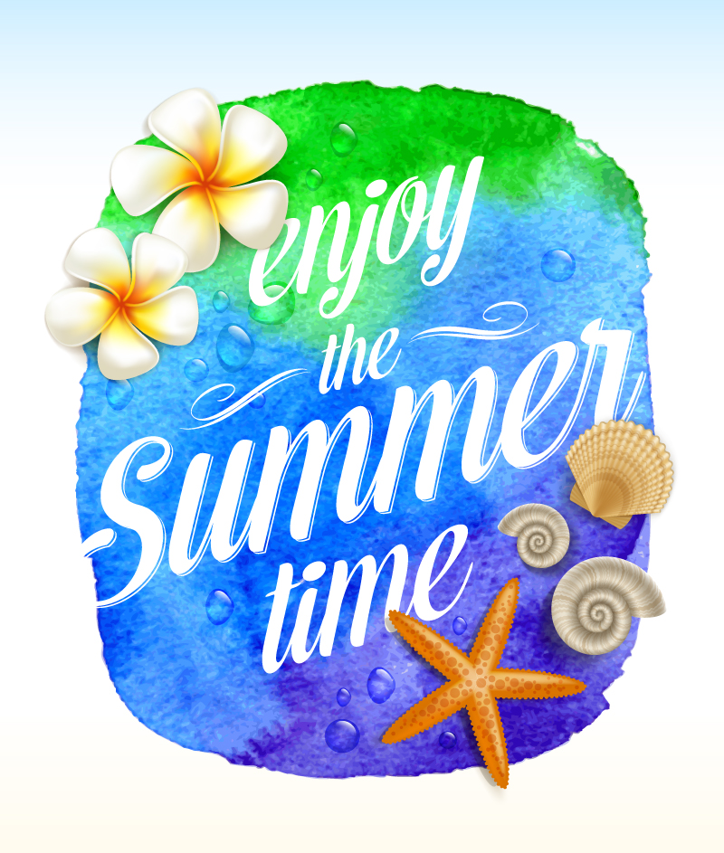 Enjoy The Summer Time Vector Free Vector Graphic Download