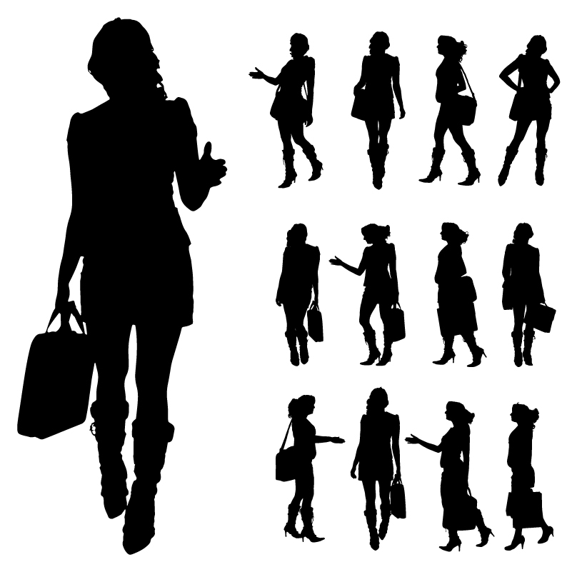 Fashion Girl Silhouette Vector