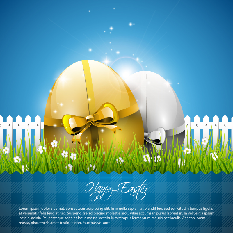 Garden Egg Background Vector