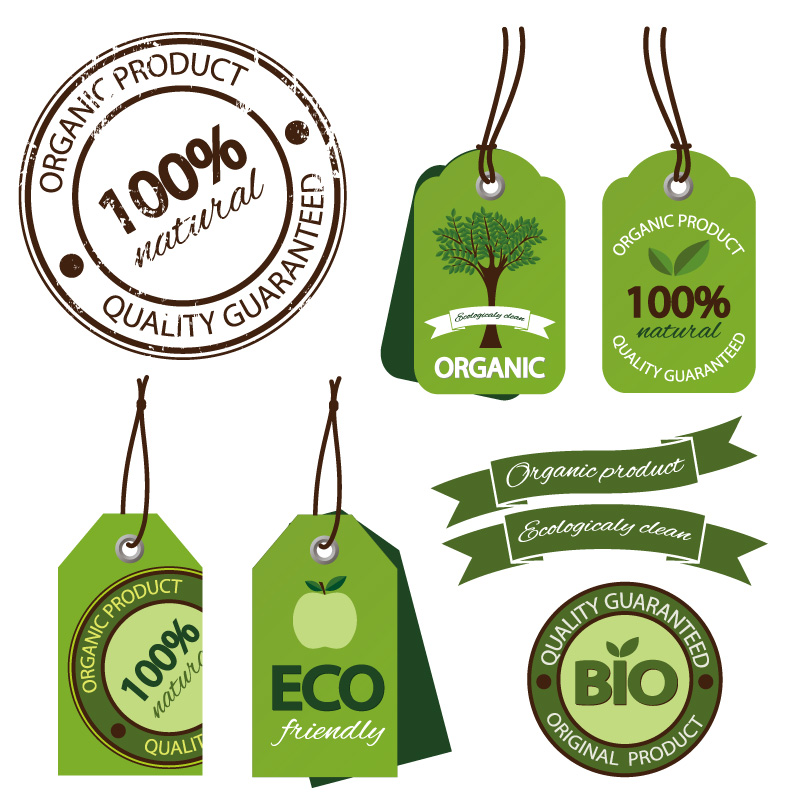 Green Eco Friendly Label Vector