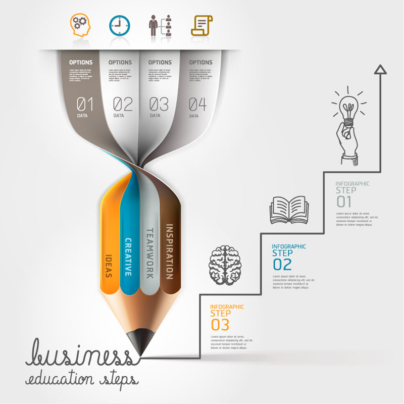 Infographic Pencil Figure Vector