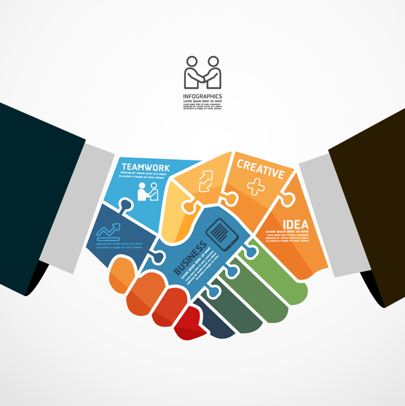 Infographics Business Teamwork Vector