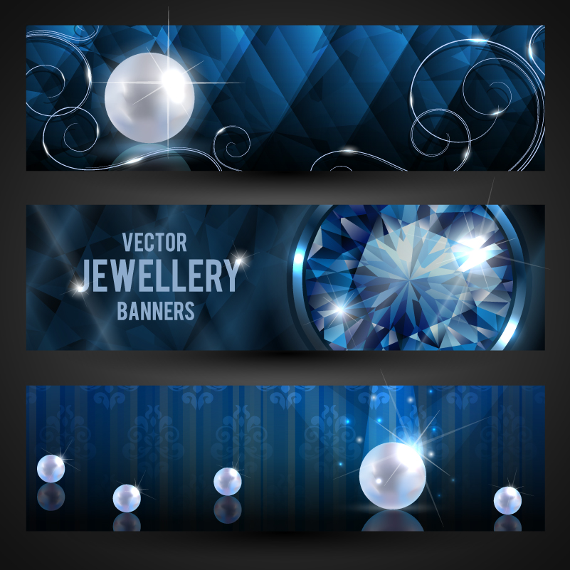 Jewellery Banners Vector
