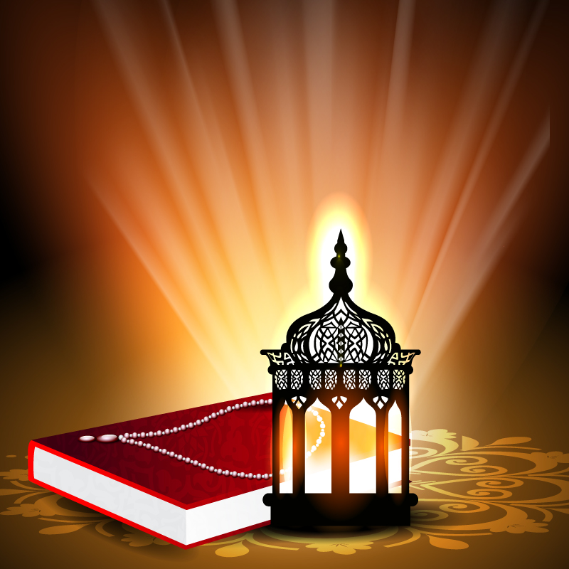 Koran with Light Background Vector