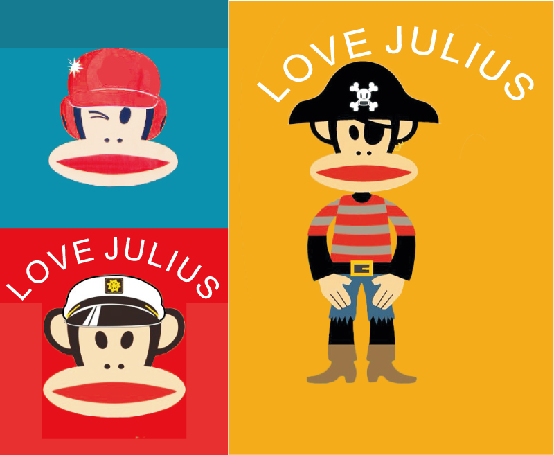 Love Julius Mouth Monkey Vector