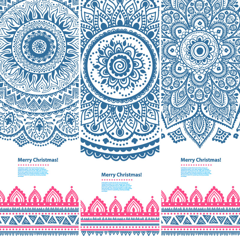 National Pattern Banner Vector