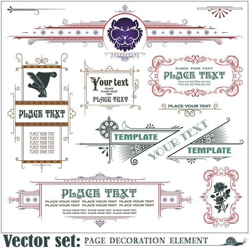 Page Decoration Element Vector