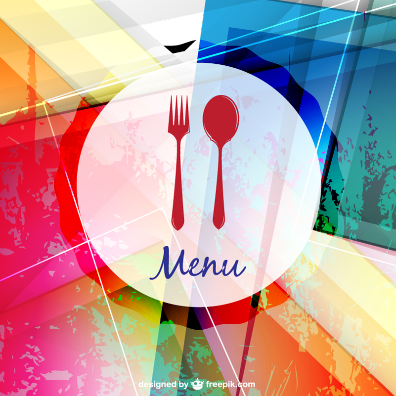 Stylish Menu Design Vector