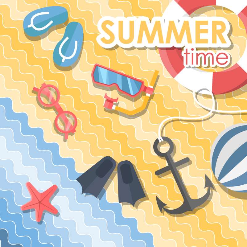 Summer Beach Clip Art Vector