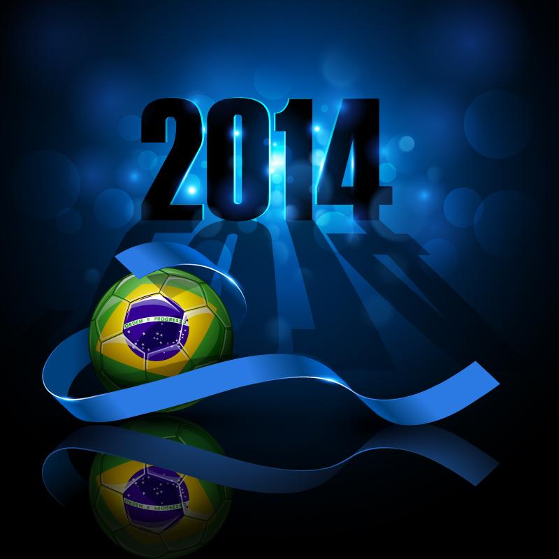 2014 Brazil Football Background Vector