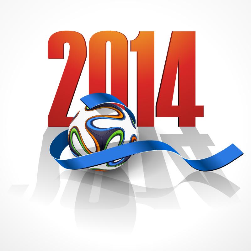 2014 Brazil Soccer Ribbon Vector
