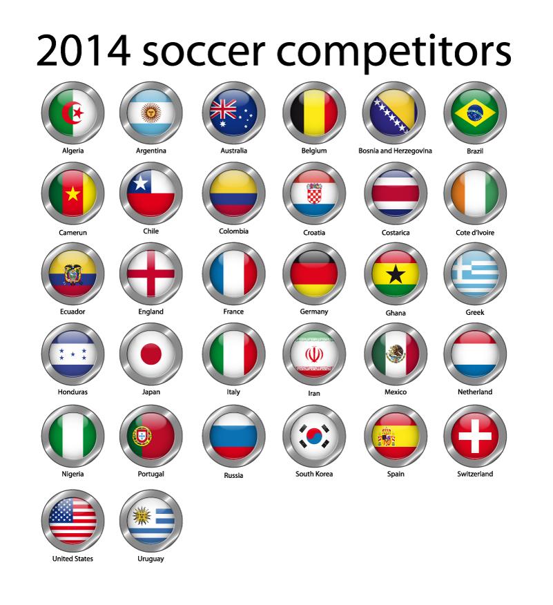 2014 Soccer Competitors Vector