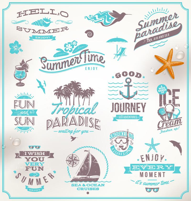 Blue Summer Paradise Vector