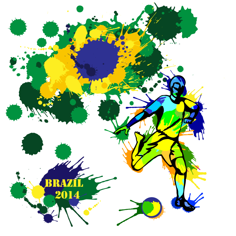 Brazil 2014 Splash Vector