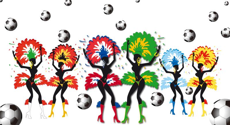Brazil Dance Soccer Vector